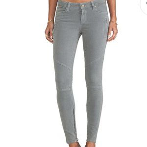 PAIGE Marley Skinny Moto Jeans Cloud Cover Gray
